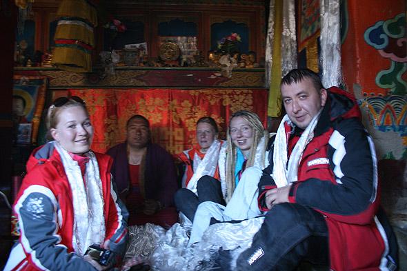 На приеме у местного Ламы в монастыре Дирапук