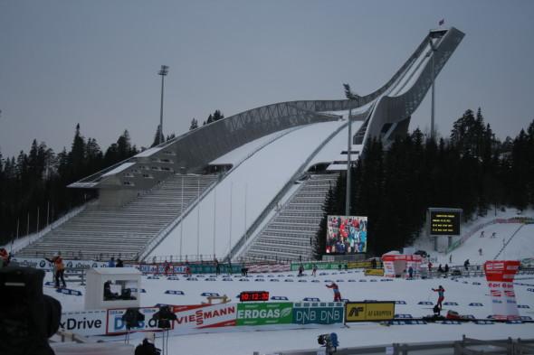 Трамплин и лыжный стадион в Холменколене, Норвегия