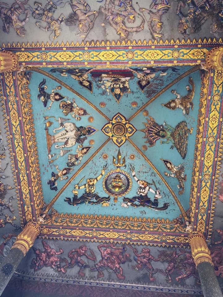 Потолок триумфальной арки Патусай, 1968 г.