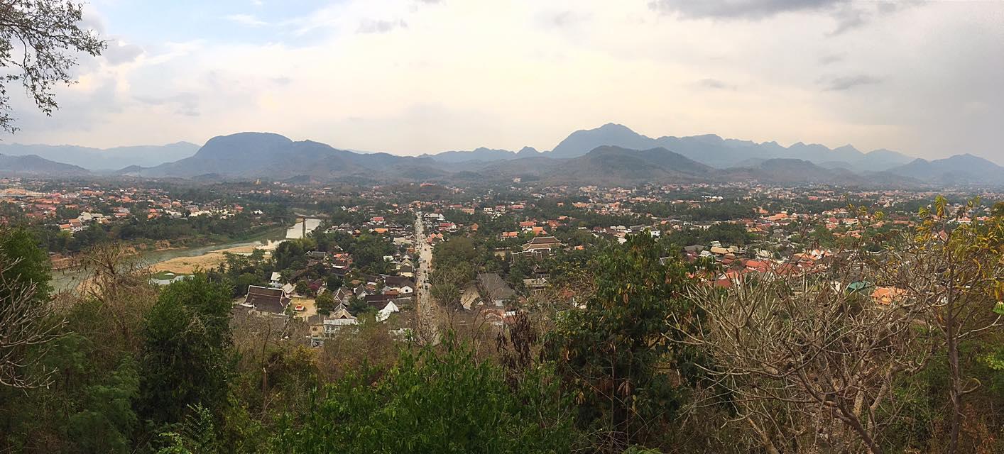 Вид с холма Пхоуси (Phousi), Луанг-Прабанг