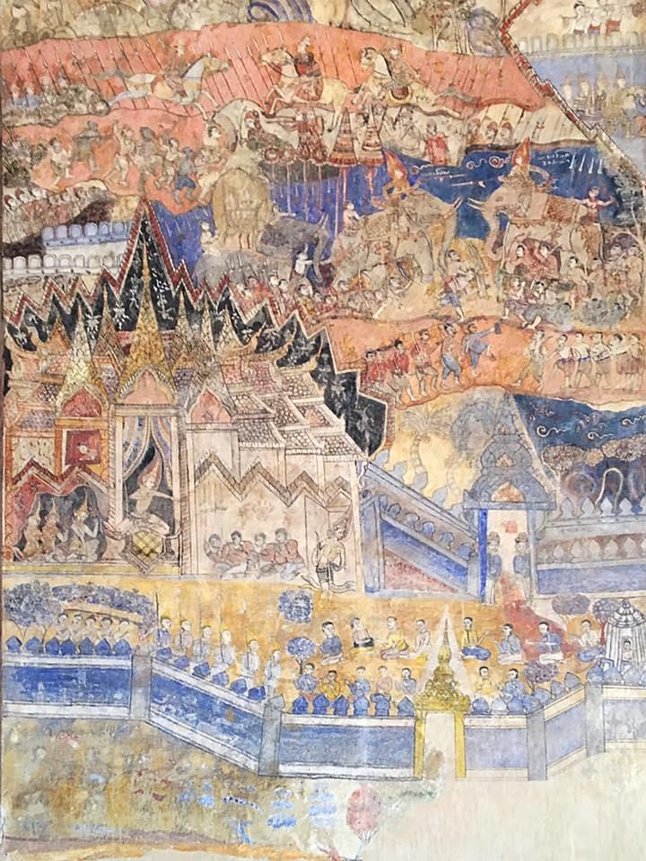 Фрески в храме Сисакет (Sisaket), Вьентьян