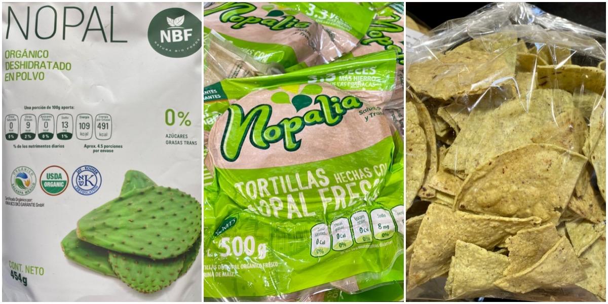 Продукты их кактуса Нопаль