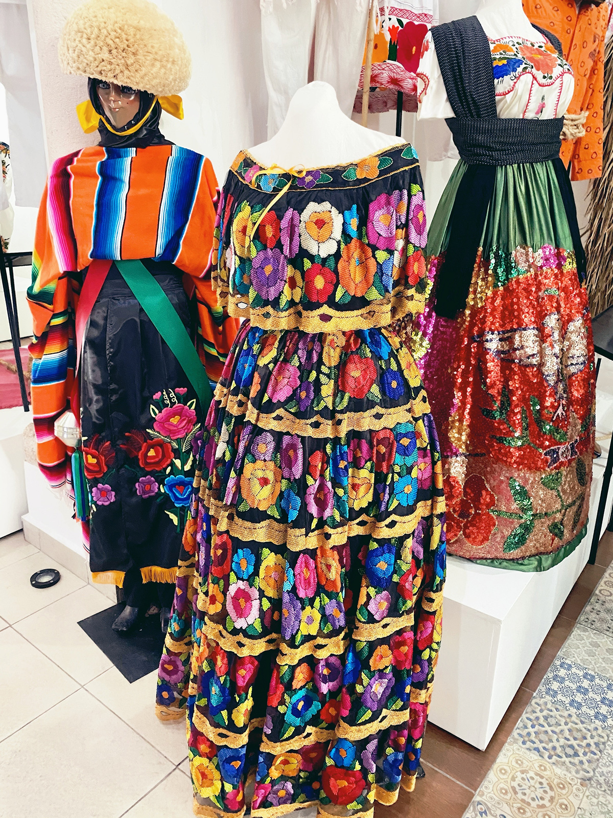 Мексиканские платья в музее одежды Вальядолида