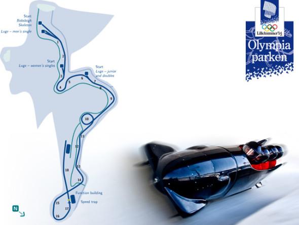 Олимпийская бобслейная трасса в Лиллехаммере