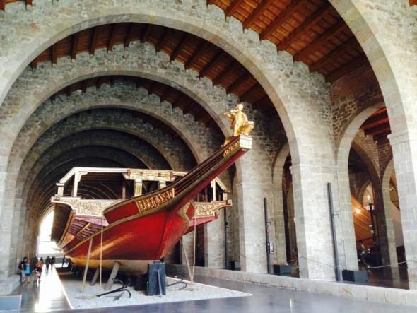 Галера в морском музее Барселоны